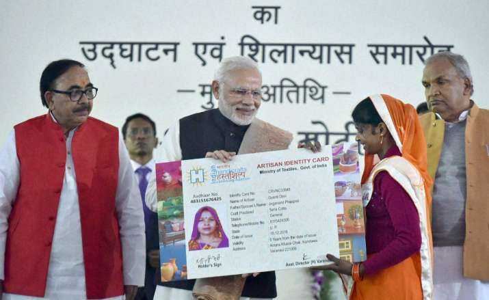 PM Modi felicitates beneficiaries of different govt Schemes