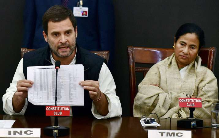 Rahul, Mamata launch double attack on PM at Opposition meet