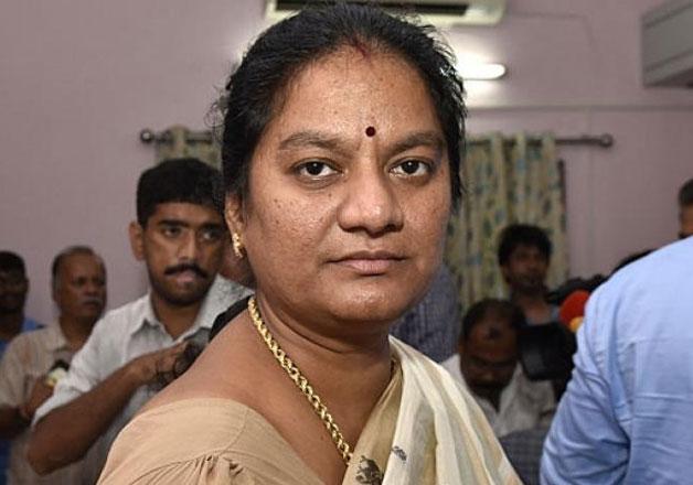 File pic of AIADMK Rajya Sabha MP Sasikala Pushpa