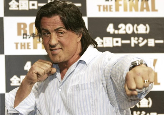 File pic - Sylvester Stallone poses for a photo in Tokyo.
