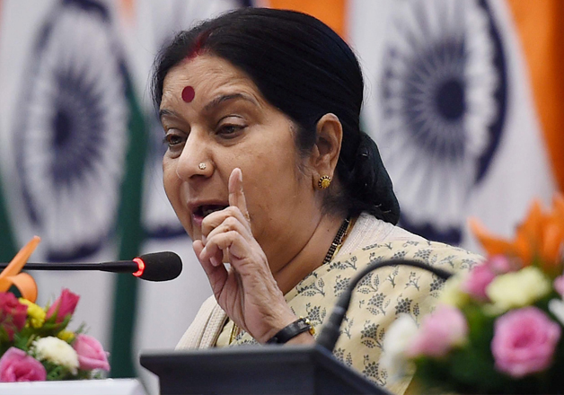 File pic of External Affairs Minister Sushma Swaraj