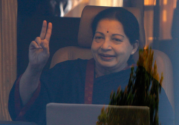 File pic of TN CM Jayalalithaa who passed away on Dec 5