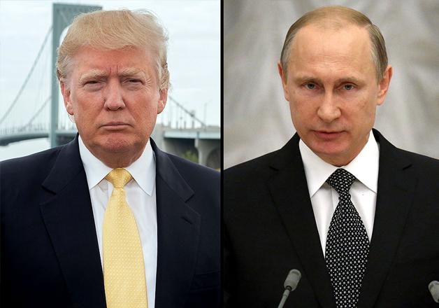 File pic - Donald Trump and Vladimir Putin