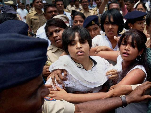 Trupti Desai and fellow activists barred from entering