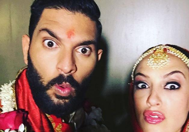 Yuvraj posts first selfie with wife Hazel