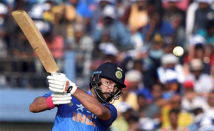 Yuvraj Singh in action during 2nd ODI
