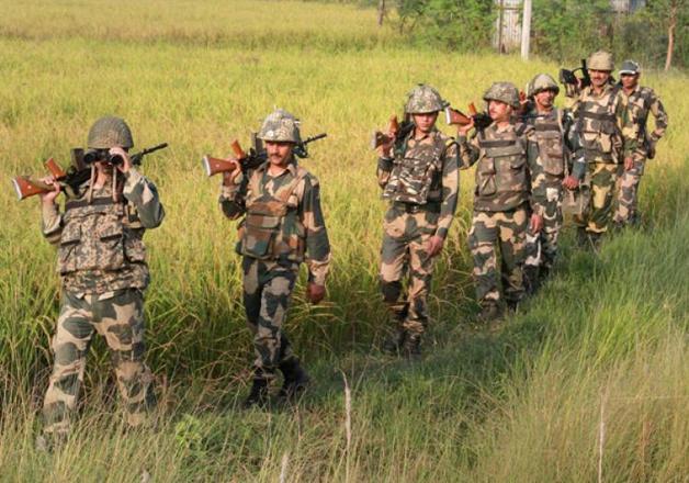 File pic - Jawans during foot patrolling