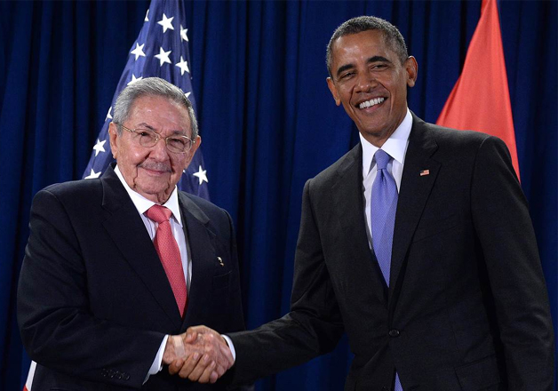 File pic - Raul Castro and Barack Obama