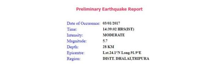 India Tv - Tripura earthquake report