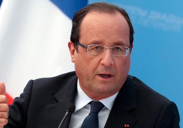 File pic - French President Francois Hollande