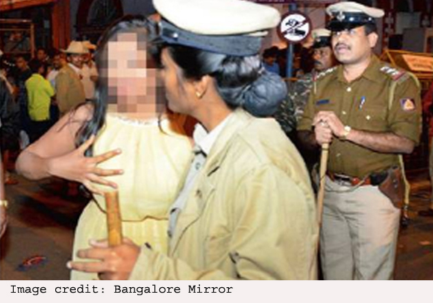 India Tv - molestation of women on New Year's eve in Bengaluru