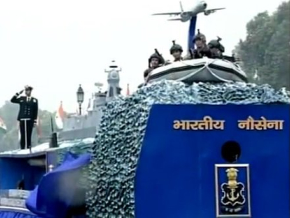 India Tv - Indian Navy tableau