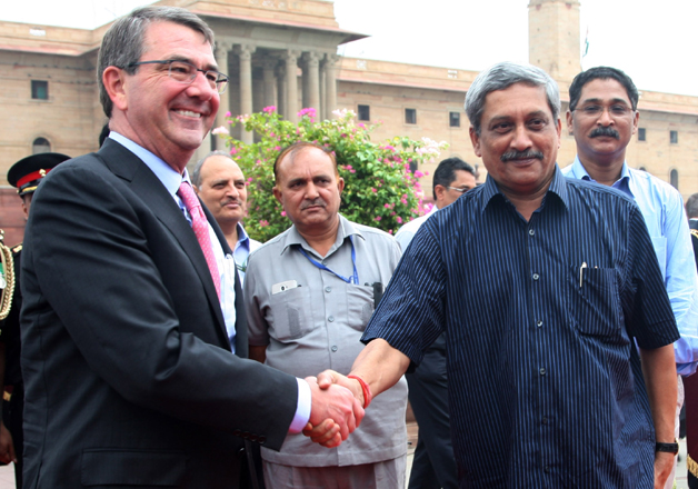 File pic - Defence Secretary Ashton Carter and Defence
