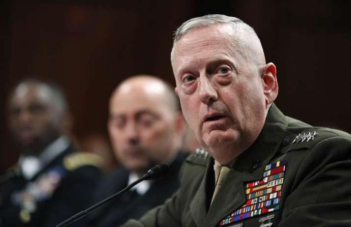 File photo of Donald Trump's defence secretary pick James