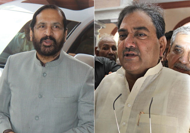 File pic - Suresh Kalmadi and Abhay Chautala