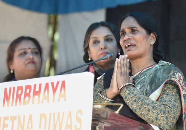 Nirbhaya's mother Asha Devi at a programme to observe 3rd