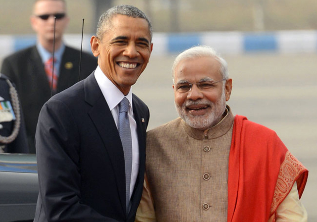 File pic - Barack Obama and Narendra Modi