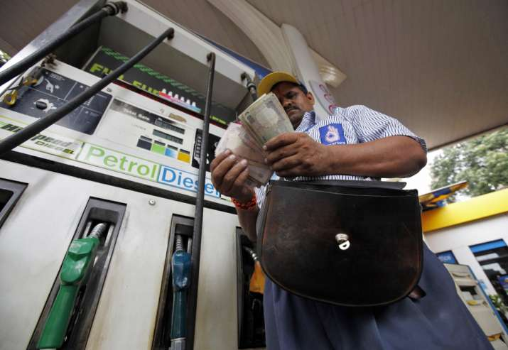 Petrol price surges by Rs 1.29 a litre
