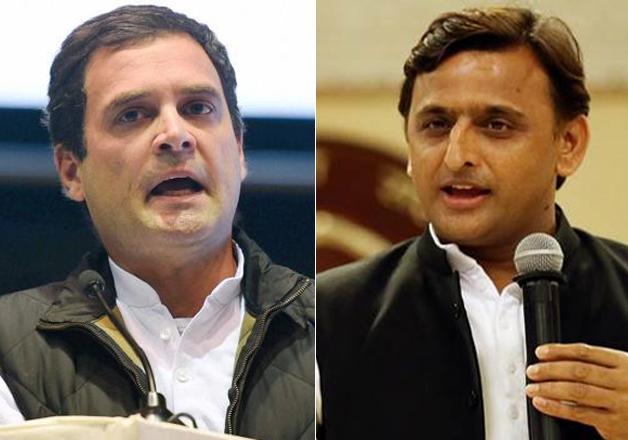File pic Rahul Gandhi and Akhilesh Yadav