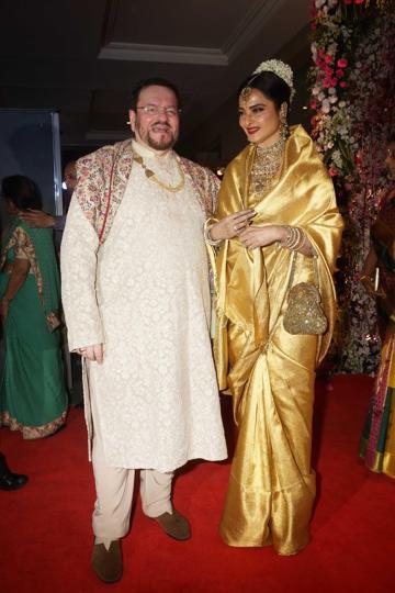 India Tv - Neil-Rukmini's grand wedding reception