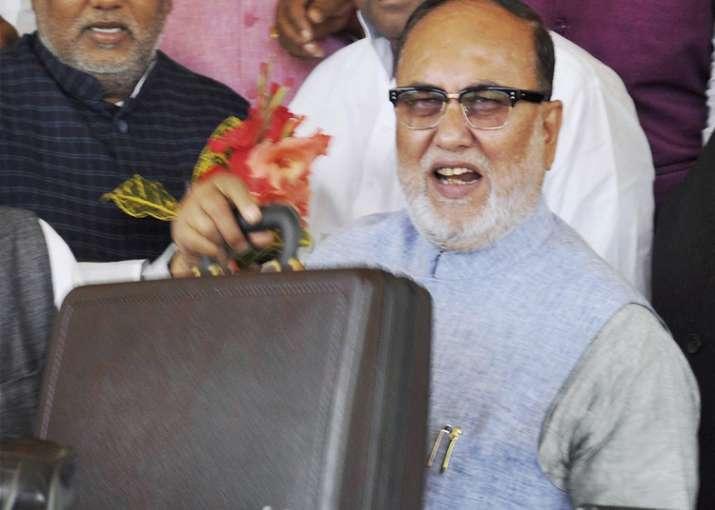 Bihar Finance Minister Abdul Bari Siddiqui arrives at Bihar