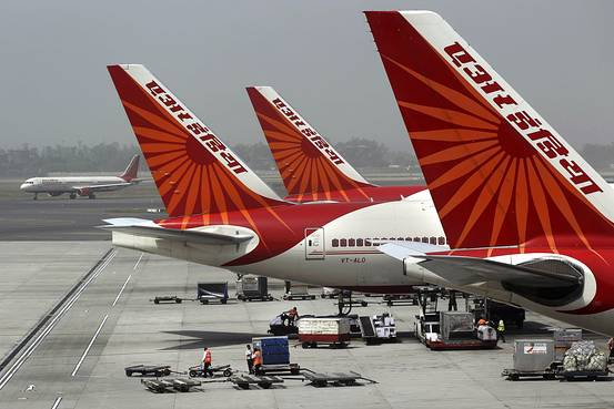Air India aircraft parked at the Delhi airport. File pic
