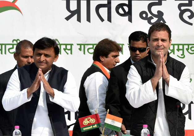 Akhilesh and Rahul hold joint press conference in Lucknow