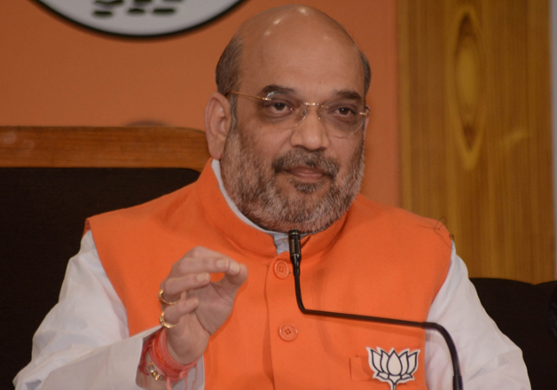 File pic - BJP president Amit Shah speaks to media