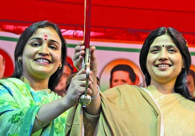 File pic of Aparna Yadav and Dimple Yadav