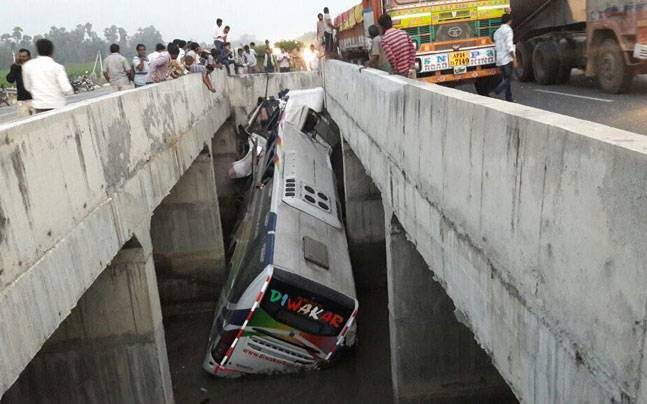 Andhra Pradesh: 7 dead, 30 injured as bus falls into canal