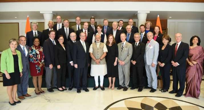 A US Congressional Delegation met PM Narendra Modi today.