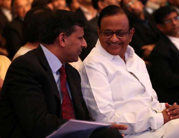 P Chidambaram with Raghuram Rajan