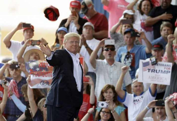 Donald Trump at 'campaign' rally in Florida