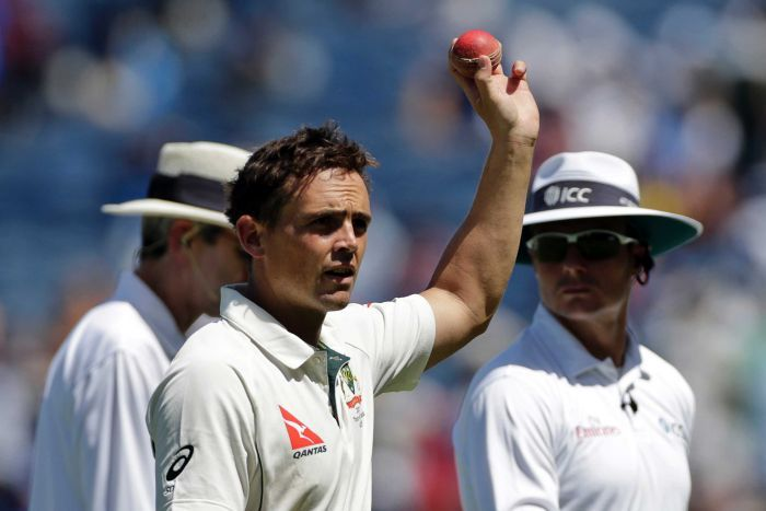 Aussie left-arm spinner Steve O'Keefe grabbed a sensational