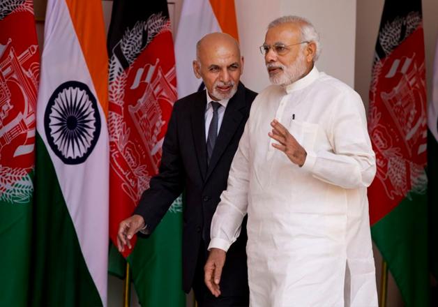 Afghan President Ashraf Ghani and Narendra Modi