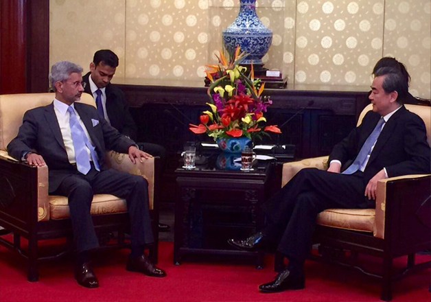 S Jaishankar meets Chinese Foreign Minister Wang Yi in