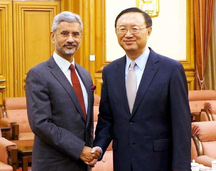 Jaishankar with Chinese State Councillor Yang Jiechi in