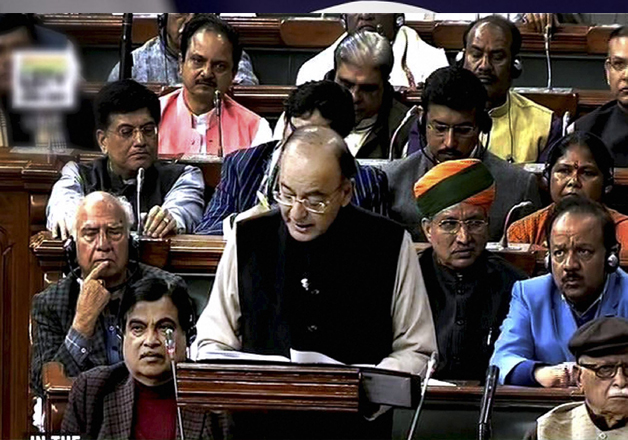 Arun Jaitley tabling the Union Budget for 2017-18 in the