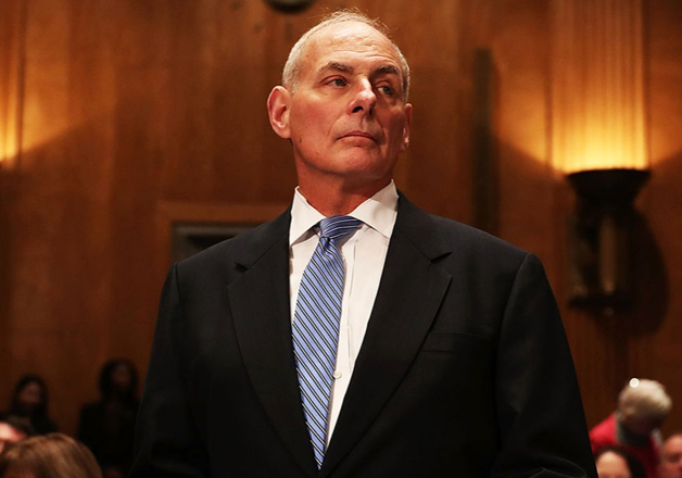 File pic of US Homeland Security Secretary John Kelly