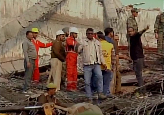 At least five dead, over 50 feared trapped in Kanpur