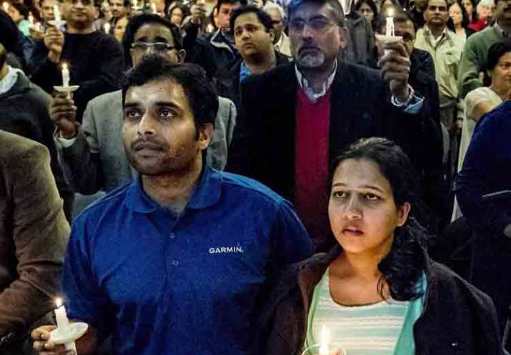 A vigil was held to celebrate life of Srinivas Kuchibhotla