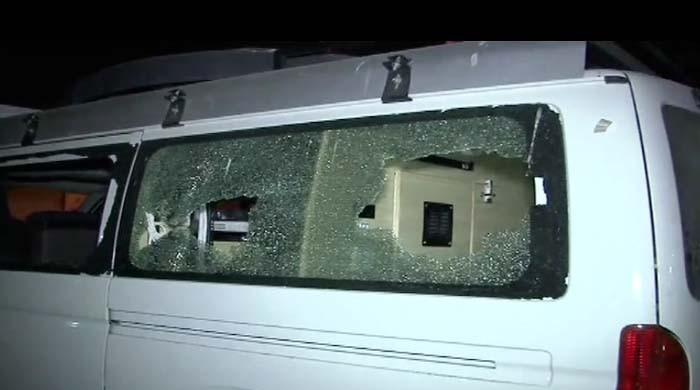 The Samaa TV van that was attacked by militants killing one