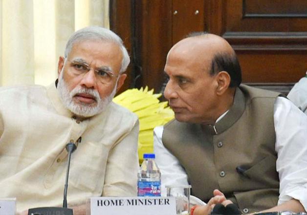 File pic of PM Narendra Modi and Rajnath Singh