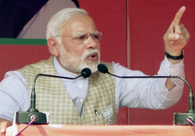 File pic - PM Narendra Modi addressing an election rally in