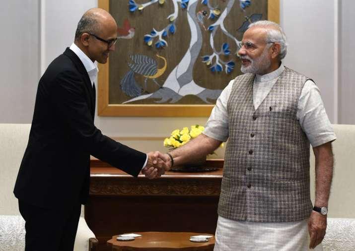 Microsoft CEO Satya Nadella met PM Modi today