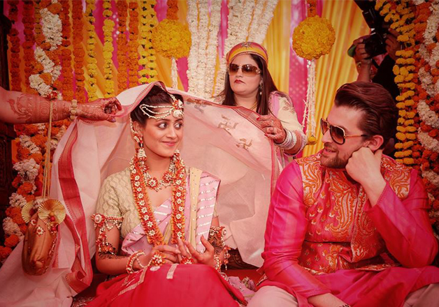 Mehendi Ceremony Look : See pics: neil and rukmini looks royal couple in mehendi sangeet