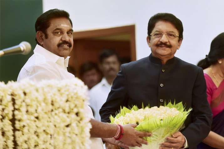Palaniswami was sworn-in as Tamil Nadu CM by Governor