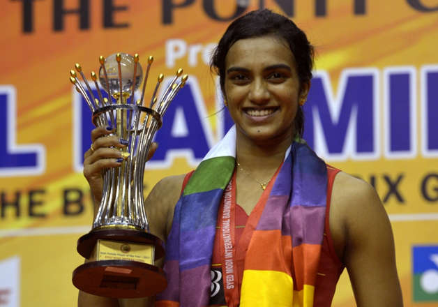 File pic - Sindhu won the Women's Single title of Syed Modi