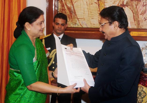 File pic - Sasikala meets Tamil Nadu Governor Vidyasagar Rao