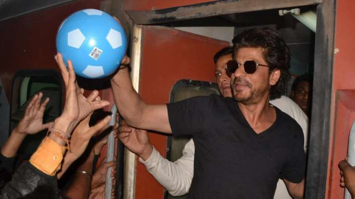 Shah Rukh Khan during his promotional tour of Raees